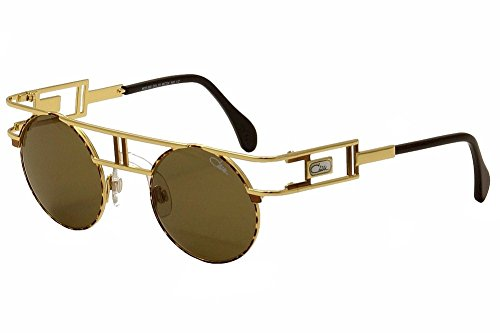 Cazal Men's Legends 958 33/SG Gold/Havana/Brown Retro Fashion Sunglasses - Cazal Round
