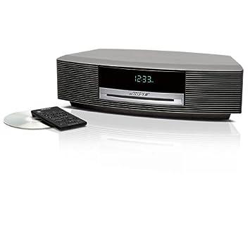 bose radio cd player. bose wave music system - cd / mp3 clock radio titanium silver cd player m