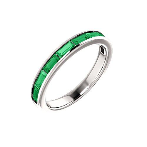 Chatham Created Emerald Ring - 6
