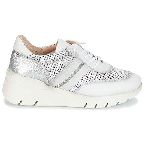 Donne Basse Sneakers White argento Bianco Hispanitas Ruth U4wxSS