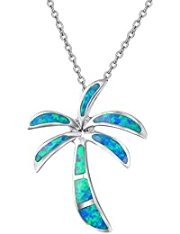 Women's 925 Sterling Silver Palm Trees Pendant,Give You...