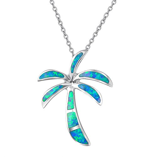 Silver Necklace Tree Palm - Women's 925 Sterling Silver Palm Trees Pendant,Give You an Elegant and Clear Feeling