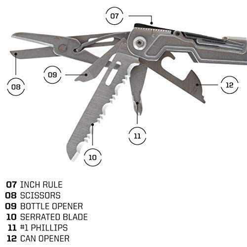 SOG Multitool Pliers Pocket Knife – PowerPint EDC Tool and Compact Lightweight Multi Tool w/ 18 Multitools in Multi-Purpose Pocket Tool (PP1001-CP) by SOG (Image #3)