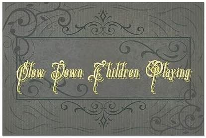 Nautical Wood Window Cling 5-Pack 36x12 CGSignLab Slow Down Children Playing