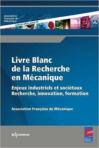 Livre Blanc De La Recherche En Mecanique Enjeux