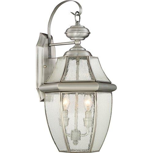 (Quoizel NY8411P Newbury 2-Light Outdoor Lantern, Pewter)