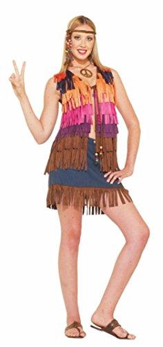 Fringed Vest Costume (Forum Novelties Womens Retro Hippie Fringed Vest Theme Party Fancy Costume, One Size)