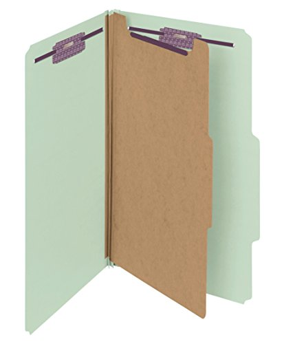 ssification Folder with SafeSHIELD Fasteners, 1 Divider, 2