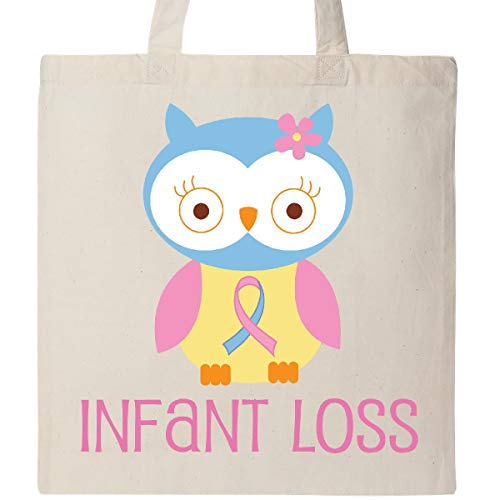 Inktastic Infant Loss Awareness Owl Tote Bag Natural (Sids Pregnancy And Infant Loss Awareness Month)