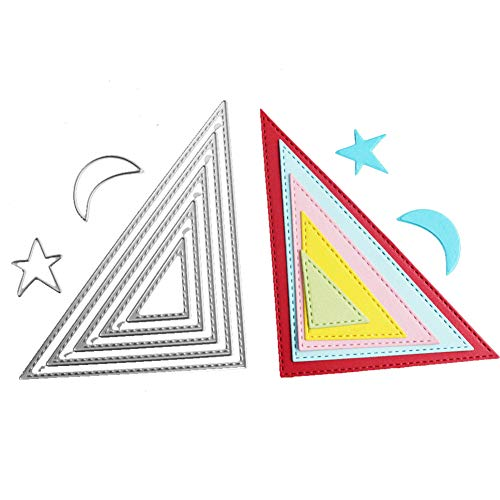 WYSE Cut Dies Triangle Craft Stencil for Card Making Scrapbooking(Triangle)