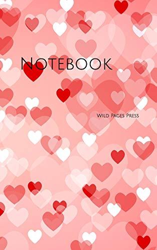 Notebook: heart shape background love valentine design designer valentines lover sex hearts sexy Wild Pages Press