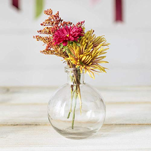 Glass Bud Vase, Ball Bottle, 3.5 in. round x 4.25 in., Clear, 12 pack Glass Bud Vase, Ball Bottle, 3.5 in. round x 4.25 in., Clear, 12 pack