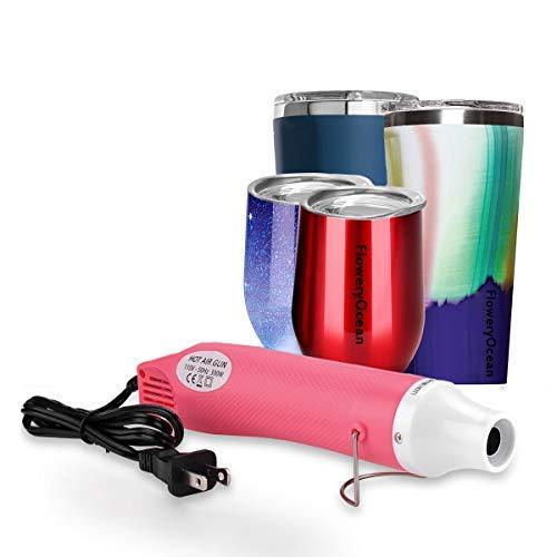 FloweryOcean Hot Air Gun, Mini Heat Gun Shrink Wrap for Embossing, Multi-Purpose Hand Hold Embossing Heat Tools for Crafts 300W