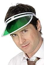 Smiffy's-31706 Miffy Visera de póquer, color verde, Tamaño único (31706) , color/modelo surtido