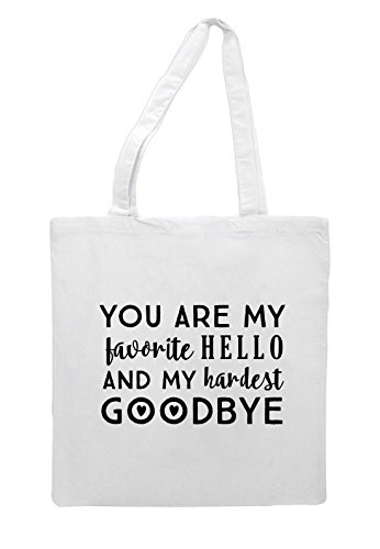 Goodbye Statement You And Hardest My Bag White Tote Favourite Shopper Are Hello YwrYH0q