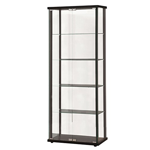 Coaster Home Furnishings 950170 Curio Cabinet, Black (Coaster Home)
