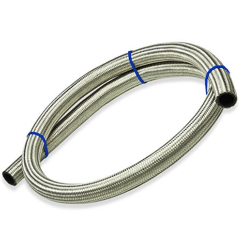 - Upgr8 5 Feet Length Stainless Steel Braided Fuel/Oil/Gas Line Hose (-10AN, Silver)