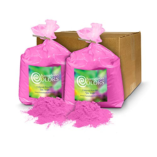 (Holi Powder Gender Reveal by Chameleon Colors - 10 lbs Pink. Same premium, authentic product used for a color races, 5k, etc.)