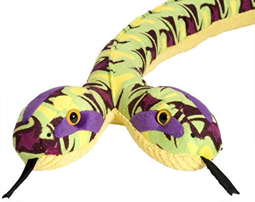 Wild Republic Snake Plush Stuffed Animal Toy, Gifts for Kids, Siamese Whirlpool, 54