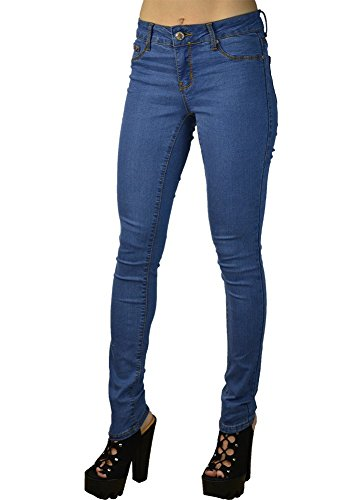 LnLClothing Junior's Low Rise Skinny Solid Color Pants LightBlue Size 0