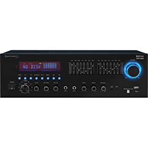 Technical Pro RX51URI Professional Receiver with USB & SD Card Inputs, Built-In 7 Band Equalizer, FM Manual Tuner, 20Hz-20KHz Frequency Response