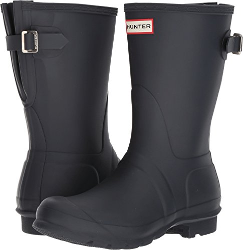 HUNTER Original Short Back Adjustable Rain Boots Navy 8