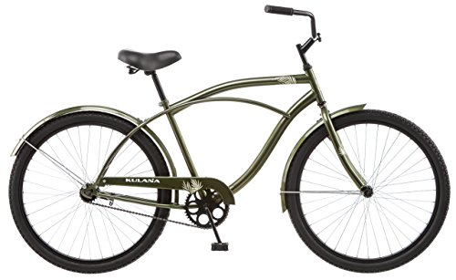 Style Beach Cruiser Bike Bicycle (Kulana Men's Cruiser Bike, 26-Inch, Green)