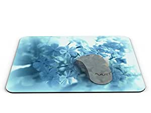 Sky blue flowers Rectangle Mouse pad - Mouse Pad / Mouse pad / Mousepad / Mousepad - AArt #MP028 (9.84 X 7.87 inches)