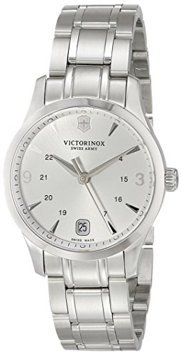 Victorinox Women's 241539 Alliance Analog Display Swiss Quartz Silver Watch