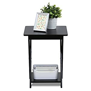 FURINNO Modern Simplistic End Table, 1-Pack, Espresso