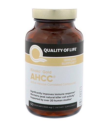 Quality of Life Labs キノコ ゴールド AHCC 500mg 植物性カプセル 60錠 【アメリカ直送】 B07CV7MBJ5