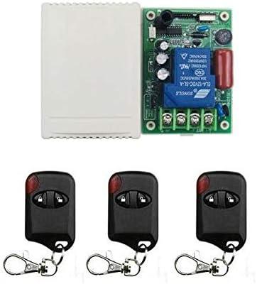 Ochoos 315/433 - Interruptor de control remoto inalámbrico para puerta corredera, puerta corredera, motor y cochera, 220 V, 30 A: Amazon.es: Bricolaje y herramientas
