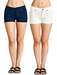 Emmalise Women's Summer Casual Stretchy Shorts