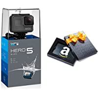 GoPro HERO5 Black 4K 12MP Waterproof Action Camera + SanDisk 32GB UHS-I microSDHC Card with SD Adapter + $25 E-Gift Card