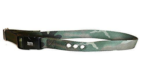 Sparky Pet Co 3/4″ RFA 68 Compatible Basic/Deluxe Bark Replacement 3 Consecutive Hole Dog Bark Collar (Camo)