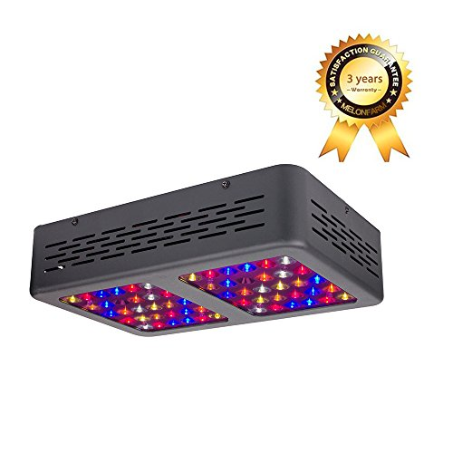 MELONFARM 300W LED Grow Light High Yield Full Spectrum with UV&IR Reflector led Growing Lights with Heatproof Casing and Daisy Chain Function for Hydroponic indoor plants Veg and Flower Bloom by MELONFARM