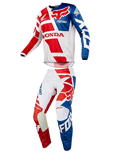 Red Mx Gear - Fox Racing 2018 180 Honda Red Jersey/Pants Adult Mens Combo Offroad MX Gear Motocross Riding Gear Red
