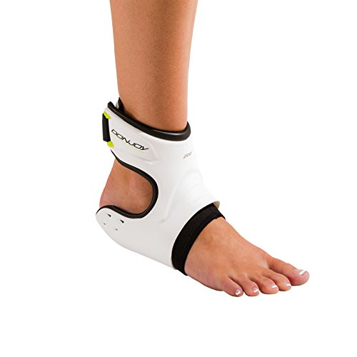 DonJoy Performance POD Ankle Brace, Best Support for Stability, Ankle Sprain, Roll, Strains for Football, Soccer, Basketball, Lacrosse, Volleyball – Small – Left – White