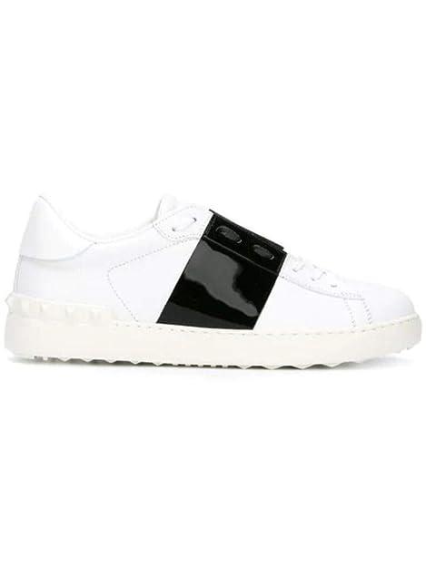 Valentino Hombre RY2S0830TCQA01 Blanco Cuero Zapatillas: Amazon.es: Zapatos y complementos
