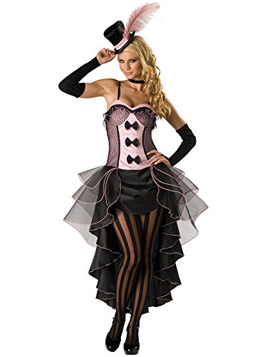 InCharacter Costumes Women's Burlesque Babe Adult Costume, Pink/Black, (Halloween Cabaret Costumes)