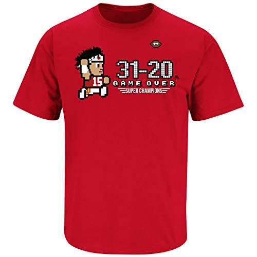 Kansas City Football Fans. Game Over Red T-Shirt (Sm-5X) (Short Sleeve, Small)