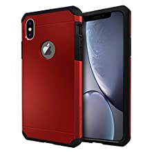 IMPACTSTRONG iPhone X Case/iPhone Xs Case, Heavy Duty Dual Layer Protection Cover Heavy Duty Case for iPhone X/Xs 5.8 inch (2018) - Red