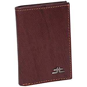 Laveri Genuine Leather Credit Card Holder Wallet Bill and Card Holder Wallet for Unisex - Leather, Brown