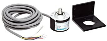 Shimpo RE1B-600C Aluminum Rotary Pulse Generator with Cable, 4.75-30VDC, 3000RPM Max Speed, 600PPR Graduation