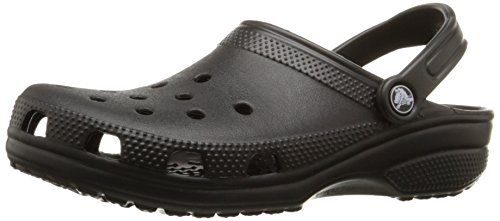 crocs Unisex Classic Clog, Black, 7 US Men / 9 US Women