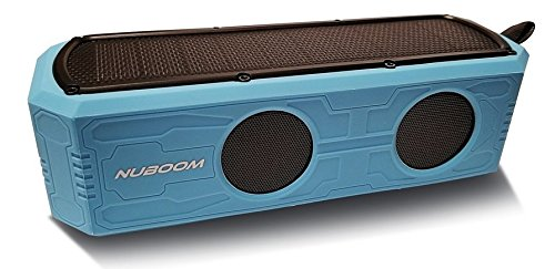 Solar Bluetooth Speaker Nuboom 55+ Hours Playtime 10W Stereo Strong Bass 4400mAh Power Bank IPX5 Splashproof 5V/220mA Solar Panel Bluetooth 4.0 Outdoor Portable Boomer (Skylight Blue)