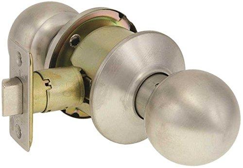 US Lock 2020 Series Passage Knobset Adjustable Backset Ball Knob Brushed Stainless Steel