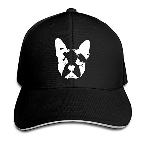 Youbah-01 Women's/Men's Boston Terrier Adult Adjustable Snapback Hats Peaked Cap ()