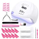 UV Led Nail Lamp 54W Gel Nail Light Curing Lamp Nail Dryer UV Light for Gel Nails with 4TimerSetting,Sensor Gel Manicure Kit of 10Pcs