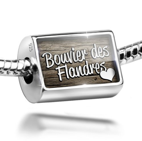 Sterling Silver Charm Bouvier des Flandres, Dog Breed Belgium - Bead Fit All Eu ()